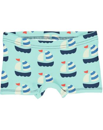 Maxomorra Unterhose Boxer Panty SAILBOAT blau GOTS M513-C3346