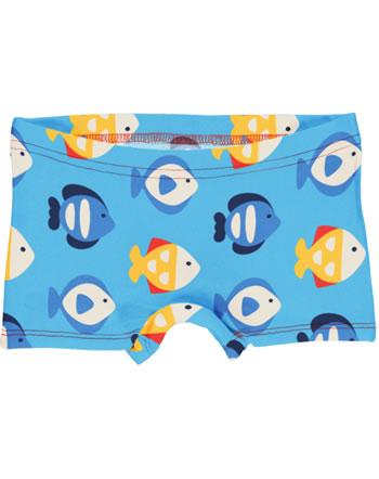 Maxomorra Unterhose Boxer Panty TROPICAL AQUARIUM blau GOTS M513-C3348
