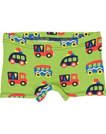Maxomorra Unterhose Boxer Panty BUNTE AUTOS grün/blau GOTS M513-C3334