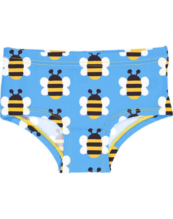 Maxomorra Unterhose Hipster HUMBLE BUMBLEBEE blau GOTS M296-C3343