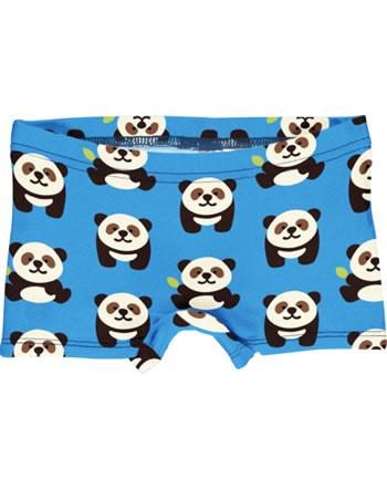 Maxomorra Unterhose Boxer Panty PANDA blau GOTS M513-C3335