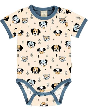 Meyadey Body pour bébé manches courte HAPPY DOGS orange C3514-M470 GOTS