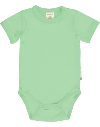 Meyadey Body pour bébé manches courte Solid GREENGAGE vert C3519-M450 GOTS