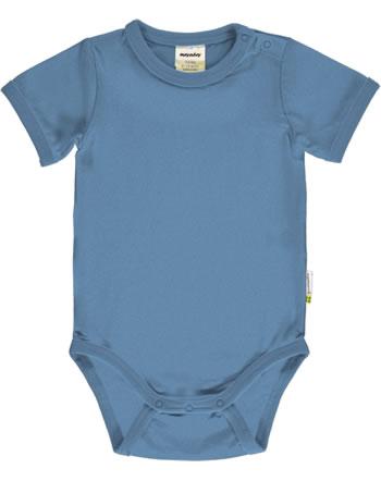 Meyadey Body pour bébé manches courte Solid MOONLIGHT bleu C3518-M450 GOTS