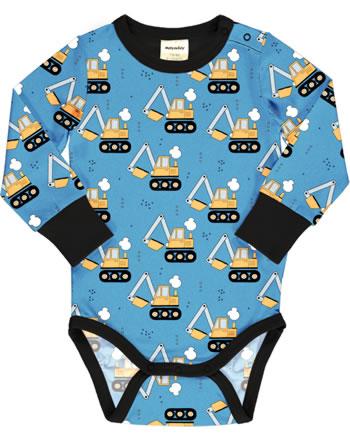 Meyadey Baby-Body Langarm EXCAVATOR RIDE blau C3459-M469 GOTS