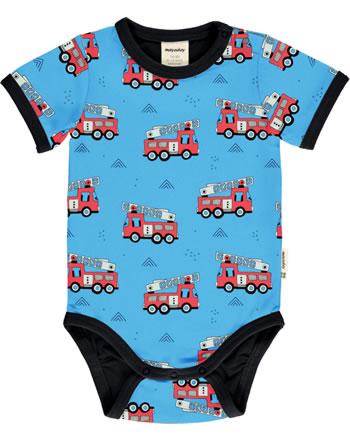 Meyadey Body pour bébé manches longues FIRE TRUCK blau GOTS D3394-M470