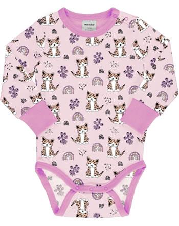 Meyadey Baby-Body Langarm KITTY RAINBOW rosa C3461-M469 GOTS
