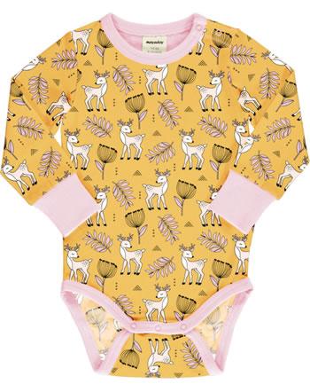 Meyadey Baby-Body Langarm POPPY DEER gelb C3465-M469 GOTS