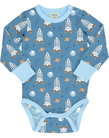Meyadey Baby-Body Langarm READY TO TAKE OFF blau C3466-M469 GOTS