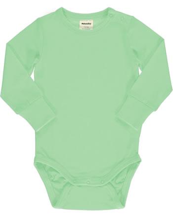 Meyadey Body pour bébé manches longues Solid GREENGAGE grün C3519-M449 GOTS