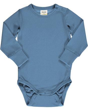 Meyadey Body pour bébé manches longues Solid MOONLIGHT bleu C3518-M449 GOTS