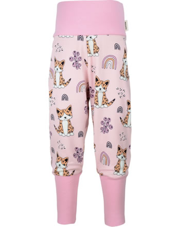 Meyadey Pants Rib KITTY RAINBOW pink C3461-M476 GOTS