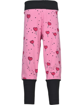 Meyadey Pants Rib LOLLIPOP LOVE pink C3462-M476 GOTS