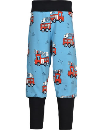 Meyadey Pants Rib FIRE TRUCKS blue GOTS D3394-M476
