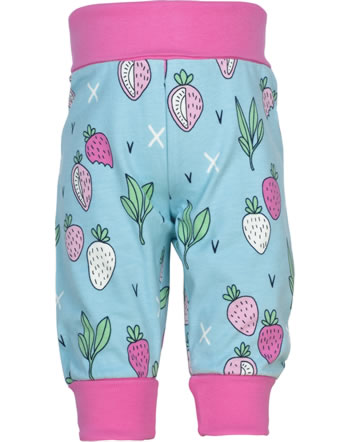 Meyadey Pants Rib STRAWBERRY FIELDS blue GOTS D3400-M476