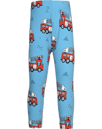 Meyadey Leggings Cropped FIRE TRUCKS blue GOTS D3394-M384