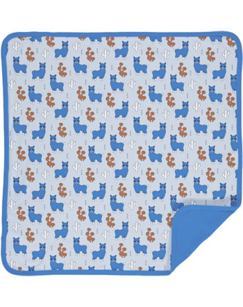 Meyadey Blanket ALPACA FRIENDS blue C3456-M493 GOTS