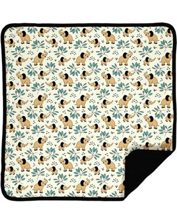 Meyaday Blanket ELEPHANT GARDEN beige C3458-M493 GOTS