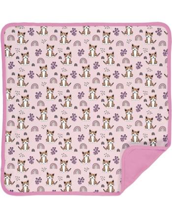 Meyaday Blanket KITTY RAINBOW pink C3461-M493 GOTS