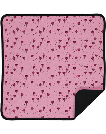 Meyadey Blanket LOLLIPOP LOVE pink C3462-M493 GOTS