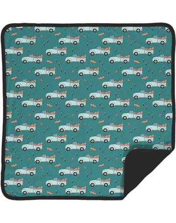 Meyadey Blanket PICKING UP TREES green C3464-M493 GOTS