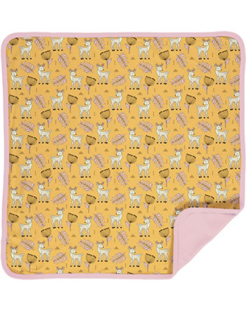 Meyadey Blanket POPPY DEER yellow C3465-M493 GOTS