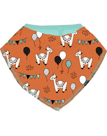Meyadeya Bib Dribble CAMEL PARTY orange C3457-M348 GOTS