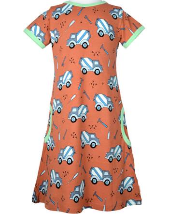 Meyadey Robe manches courtes CEMENT TRUCK orange C3507-M355 GOTS