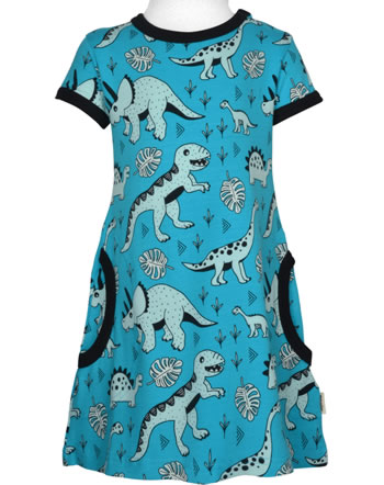 Meyadey Dress shortsleeve DINO FOREST blue GOTS D3391-M355