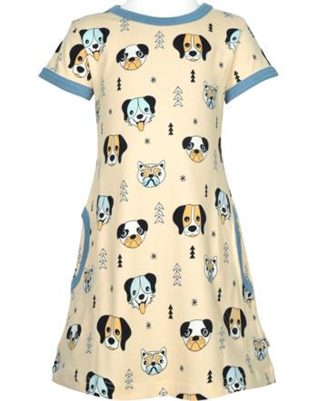 Meyadey Robe manches courtes HAPPY DOGS orange C3514-M355 GOTS