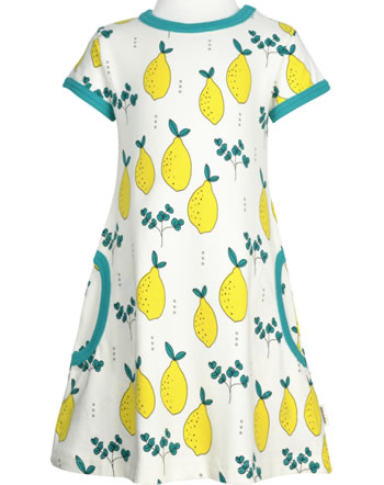 Meyadey Dress shortsleeve LEAFY LEMON yellow GOTS D3396-M355