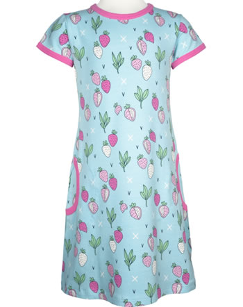 Meyadey Dress shortsleeve STRAWBERRY FIELDS blue GOTS D3400-M355