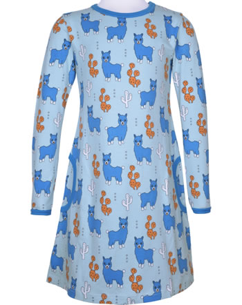 Meyadey Dress long sleeve ALPACA FRIENDS blue C3456-M436 GOTS