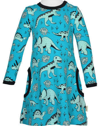 Meyadey Dress longsleeve DINO FOREST blue GOTS D3391-M436
