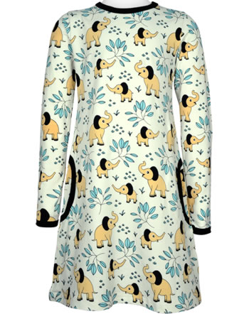 Meyadey Dress long sleeve ELEPHANT GARDEN beige C3458-M436 GOTS
