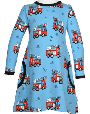 Meyadey Dress longsleeve FIRE TRUCKS blau GOTS D3394-M436