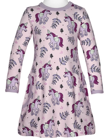 Meyadey Dress long sleeve UNICORN JUNGLE pink C3467-M436 GOTS