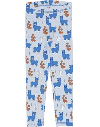 Meyadey Leggings ALPACA FRIENDS blau C3456-M474 GOTS
