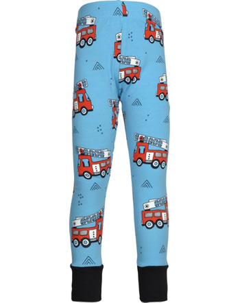 Meyadey Leggings with cuffs FIRE TRUCKS blue GOTS D3394-M435