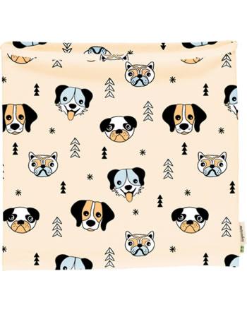 Meyadey Loop Schlauchschal HAPPY DOGS orange C3514-M480 GOTS