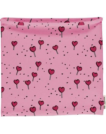 Meyadey Loop Scarf Tube LOLLIPOP LOVE pink C3462-M480 GOTS
