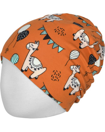 Meyadey Hat Beanie CAMEL PARTY orange C3457-M544 GOTS