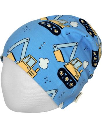 Meyadey Hat Beanie EXCAVATOR RIDE blue C3459-M544 GOTS