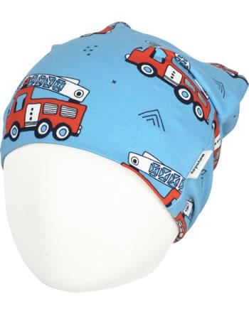 Meyadey Hat Beanie FIRE TRUCKS blue GOTS D3394-M544