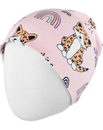 Meyadey Hat Beanie KITTY RAINBOW pink C3461-M544 GOTS