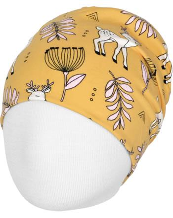 Meyadey Hat Beanie POPPY DEER yellow C3465-M544 GOTS
