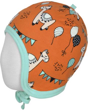 Meyadey Mütze zum Binden CAMEL PARTY orange C3457-M391 GOTS