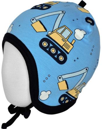 Meyadey Mütze zum Binden EXCAVATOR RIDE blau C3459-M391 GOTS