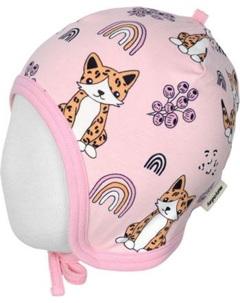 Meyadey Mütze zum Binden KITTY RAINBOW rosa C3461-M391 GOTS