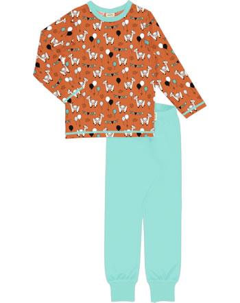 Meyadey Pyjama lang CAMEL PARTY orange C3457-M437 GOTS
